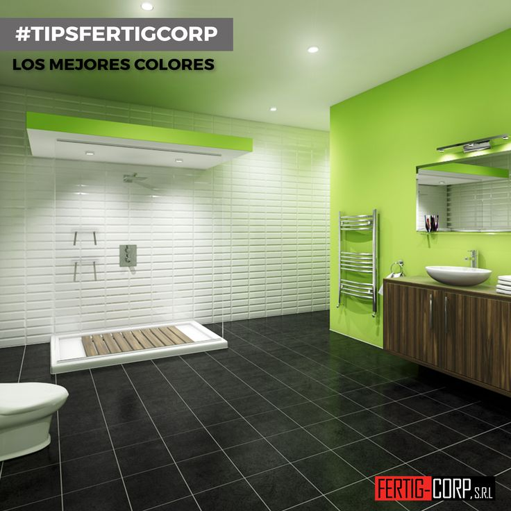 para decorar el bao en color verde podemos elegir pintar las paredes en un tono de