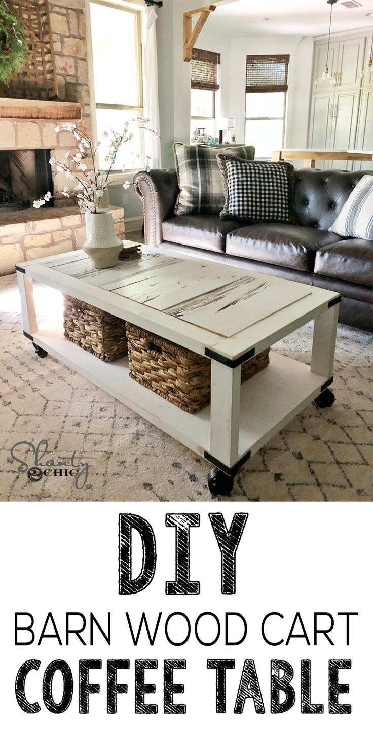 Diy Barn Door Cart Coffee Table Free Plans And How To Video Diy