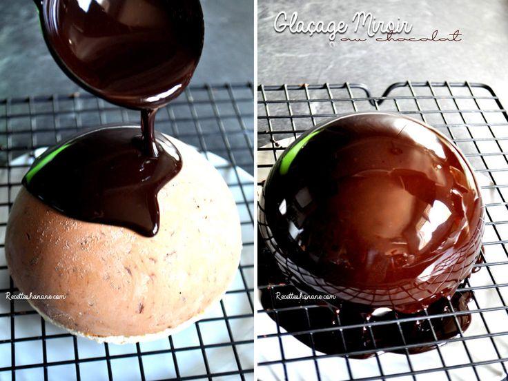 Glaçage miroir cacao chocolat (pour vos bûches, bavarois...)