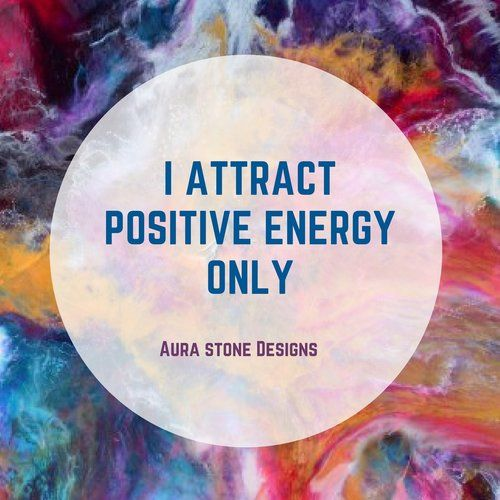 I attract positive energy only.    All Aura bracelets come with affirmations matched to the intent and metaphysical properties of the natural stones.