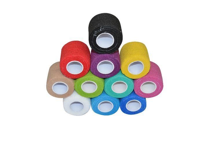 Macure Bande 5 cm x 4.5 m Coban Cohésif Bandage Élastique Auto-Adhésif Bandage Adhérentes Tendre Hockey Bande Bâton Bandes