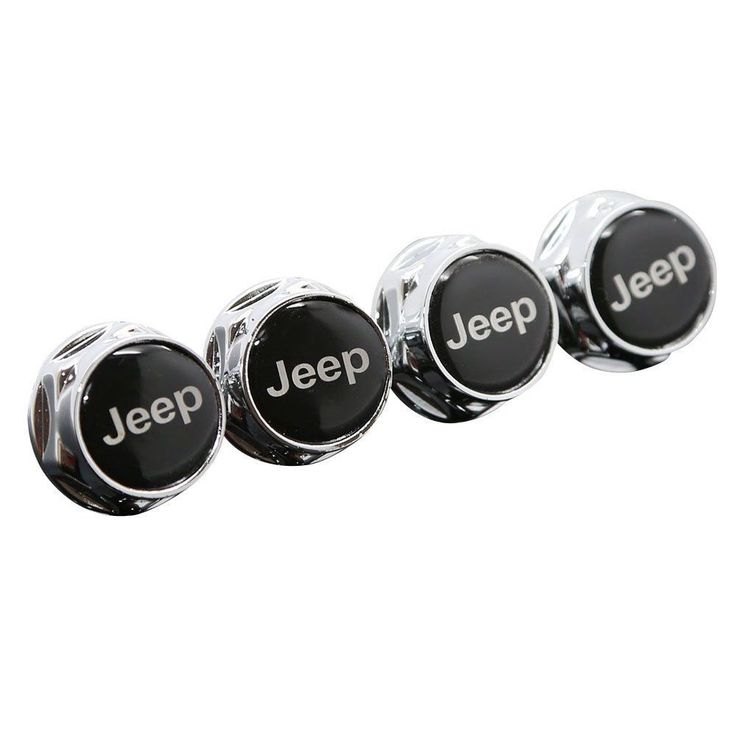 Chrome Metal Sports Style Car License Plate Frame Universal Bolt Screws For JEEP #Unbranded