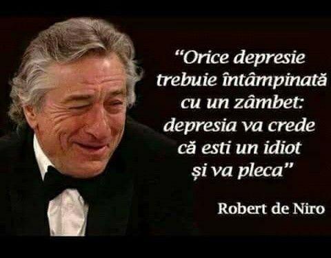 Depresia va crede ca esti un idiot si va pleca.