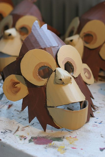Monkey mask, painted by wrnking, via Flickr