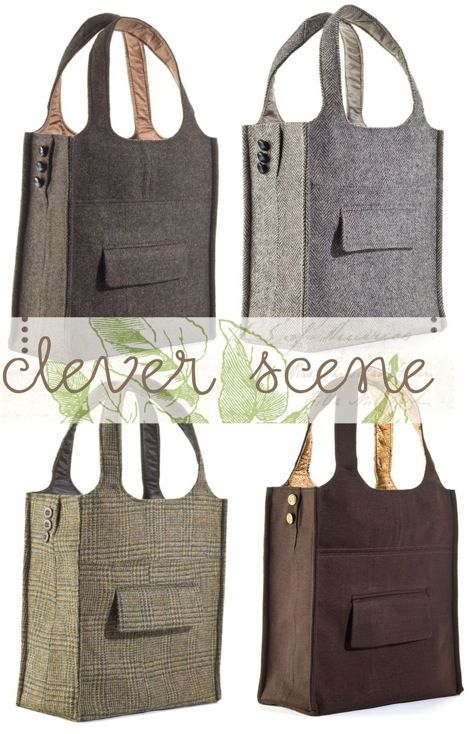 Old suits = new tote bags. Clever and stylish, don't you think?