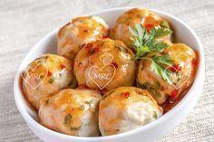 Albóndigas de sepia y salsa de piquillos | Recetas Thermomix. Cocinar con robot Thermomix TM31 TM5, recetas fáciles, menús completos, tradicionales.