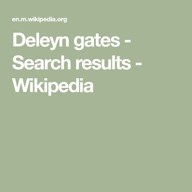 Deleyn gates - Search results - Wikipedia in 2020 ...