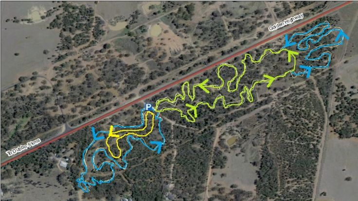 Mugga Hill is right next to the Golden Highway, only a couple of kilometres out of Dubbo - it crams over 4km of singletrack into a very compact patch of land.