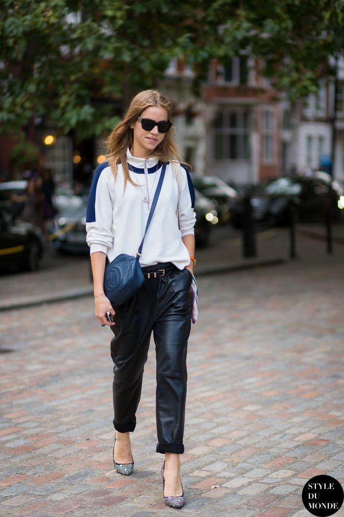 leather legs. Trine in Paris. #TrinesWardrobe