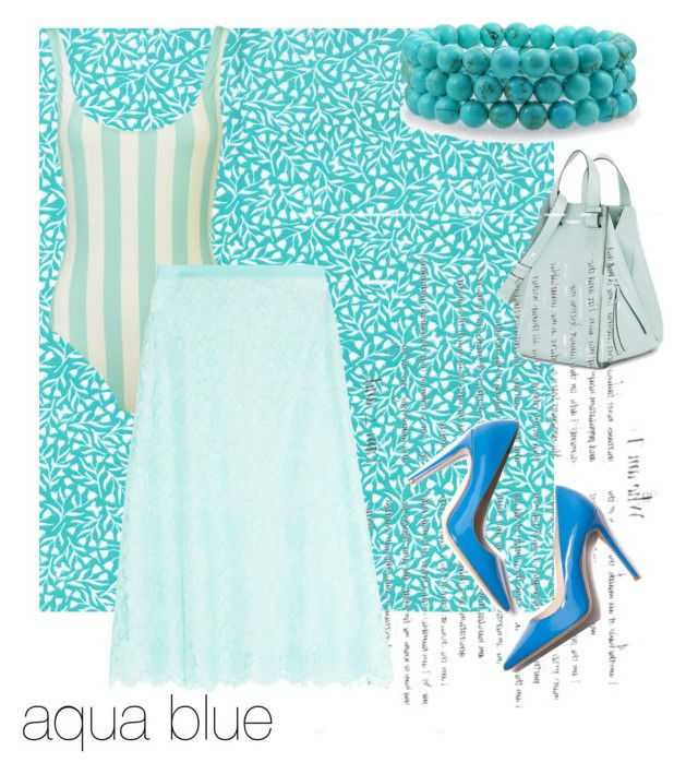"""""""aqua blue"""" by onyourback on Polyvore featuring Bling Jewelry, Loewe, Christopher Kane and M. Gemi"""