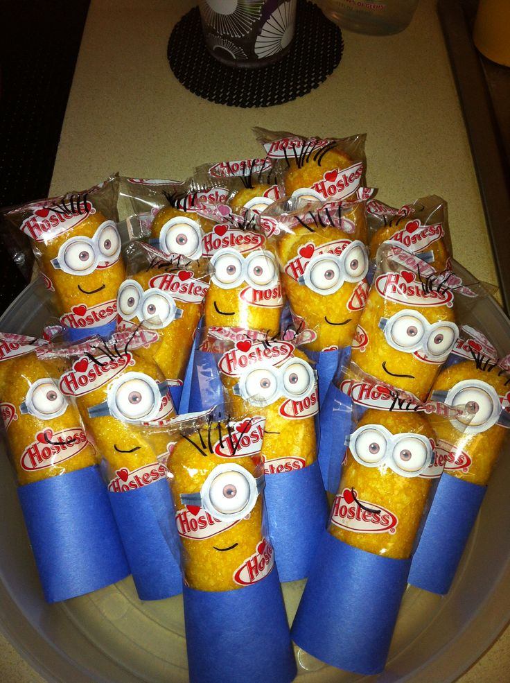 Classroom Breakfast Ideas ~ Minion twinkies minions pinterest