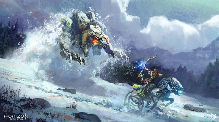 ArtStation - Horizon: Zero Dawn - Aloy vs Sawtooth, Lloyd Allan