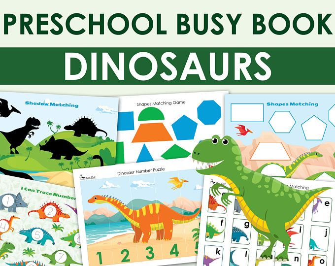 Busy Book Printable Worksheets Set Matching Activities Etsy In 2021 Busy Book Busy Toddler Preschool Printable Preschool dinosaur matching worksheet