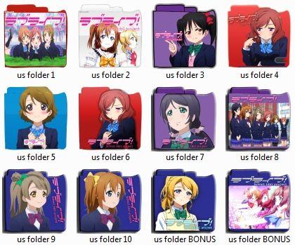 Love Live! Anime folder pack icon