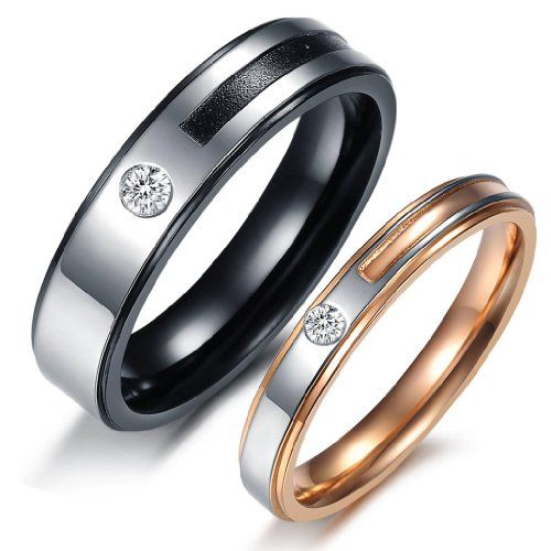 3Aries Fashion Stainless Steel Rose Gold Plated fair lady ring beautiful Women Ring Size 10 by 3AriesTake for me to see 3