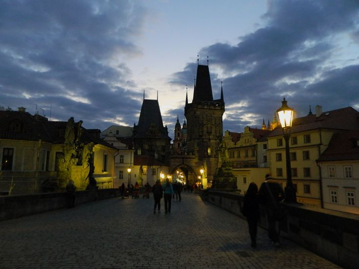 Praga in the night. Charles Bridge./Ночная Прага. Карлов Мост.