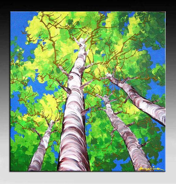 Landscape Painting Abstract Painting  HUGE Original DEEP door art53, $299.00
