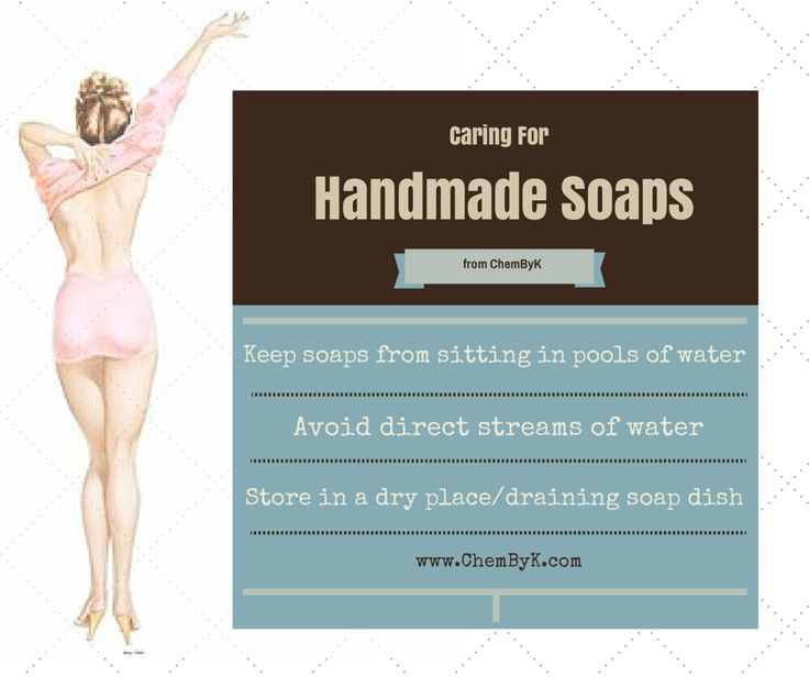 How to care for cold process, handmade soaps.