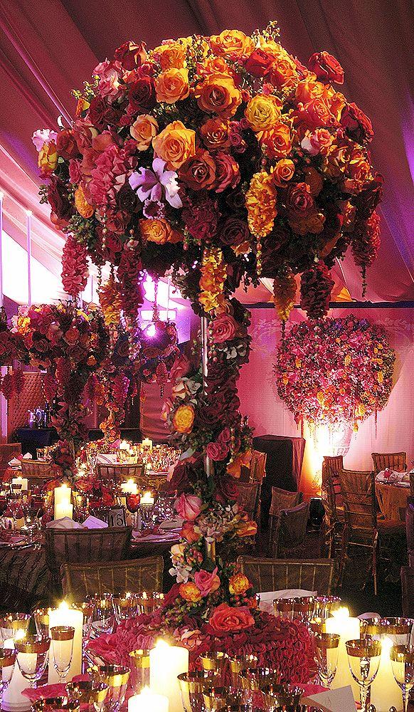 Tall centerpiece, event ideas, preston bailey. # Wedding reception. #www.celebritystyleweddings.com #CelebStyleWed