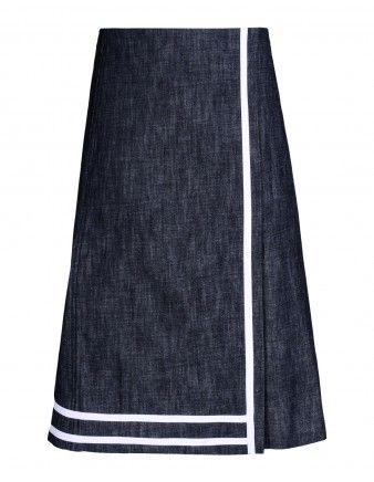 Victoria Beckham Denim A-Line Wrap Skirt Gosto!
