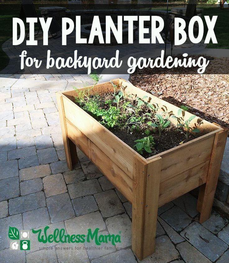 How to make a planter box for easy backyard gardening DIY