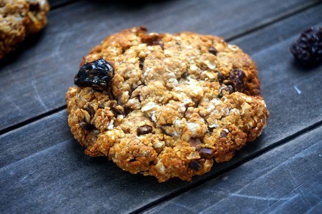 Gezonde havermout koekjes,  (cacao nibs en rozijnen)