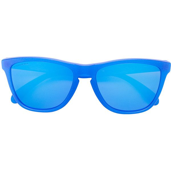 Oakley Frogskins sunglasses (2,505 MXN) ❤ liked on Polyvore featuring accessories, eyewear, sunglasses, blue, plastic sunglasses, unisex glasses, blue sunglasses, oakley and unisex sunglasses
