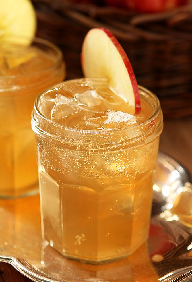 Bourbon and Apple Cider Cocktail - Ingredients      2 ounces Apple Cider, chilled     1 ounce Bourbon     2 ounces Ginger Ale, chilled - I recommend finding a good Ginger Ale or even Ginger Beer...one that really has an evident taste of ginger.     Apple slices for garnish