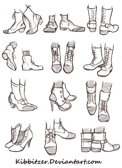 Shoes Reference Sheet by Kibbitzer on DeviantArt
