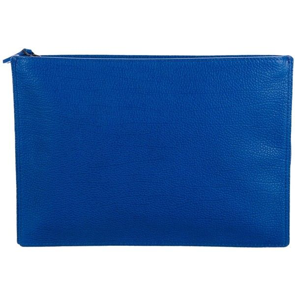 Pre-owned MCM Visetos Zip Pouch (1,050 PEN) ❤ liked on Polyvore featuring bags, handbags, clutches, black, zip purse, mcm, mcm purse, hand bags and man pouch bag
