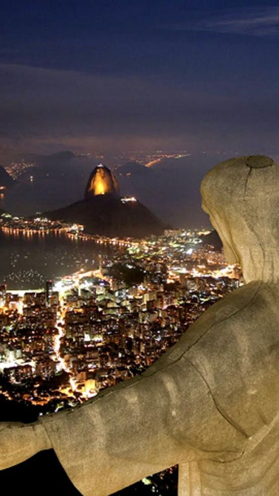 Christ The Redeemer at Night