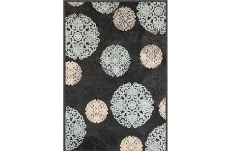 93X128 Rug-Medallions Charcoal