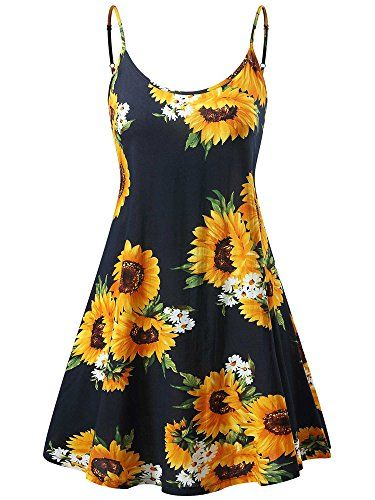 cee28b9f5 MSBASIC Floral Dress Women, Navy Floral Sunflower Dresses Get yours today  for ONLY $9!