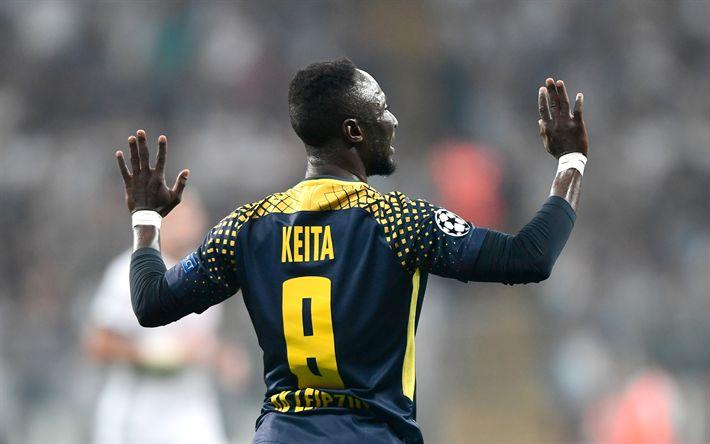 Télécharger fonds d'écran Naby Keita, RB Leipzig, Guinean football player, Football, France, football