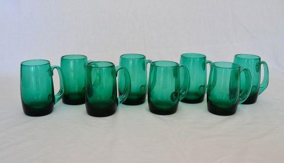 ølseidler, grønne - Designet av Willy Johansson for Hadeland Glassverk