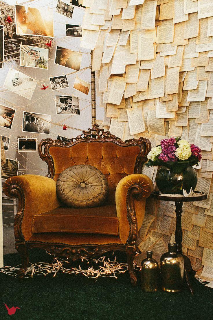 Vintage gold velvet armchair from Lily and Bramwell. http://lilyandbramwell.com.au/#