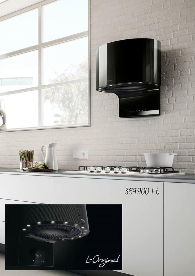 Ha bátor vagy, bevállalsz egy ilyen páraelszívót az új konyhádba. L-Original az Admiral Konyhastúdiótól.