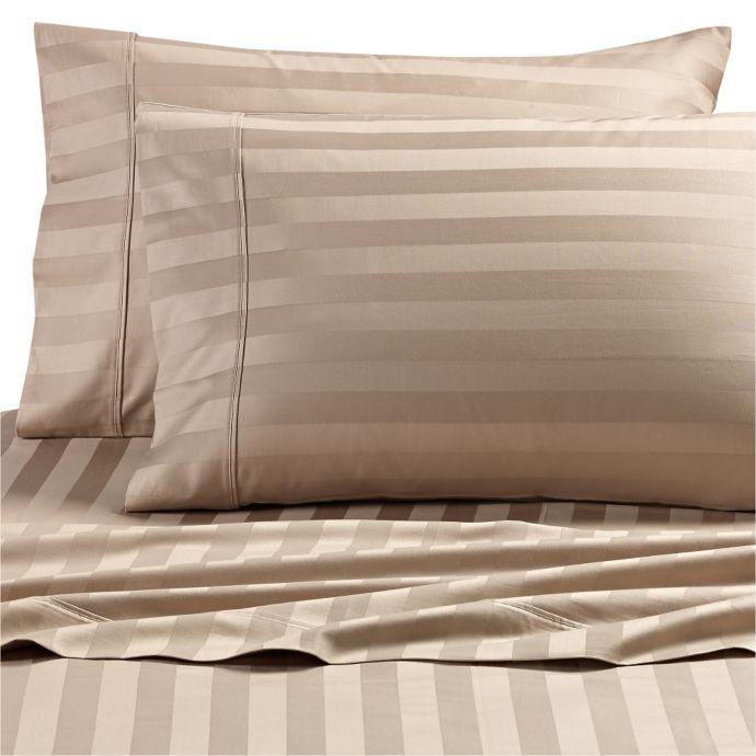 Wamsutta Dream Zone Stripe 1000 Thread Count Pimacott Sheet Set