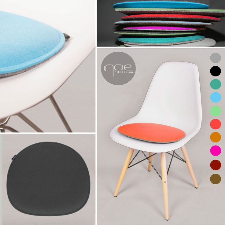 Eco Filz Kissen geeignet für Eames Sidechair Sitzkissen gepolstert - Öko Tex 100 in Möbel & Wohnen, Möbel, Stühle | eBay!