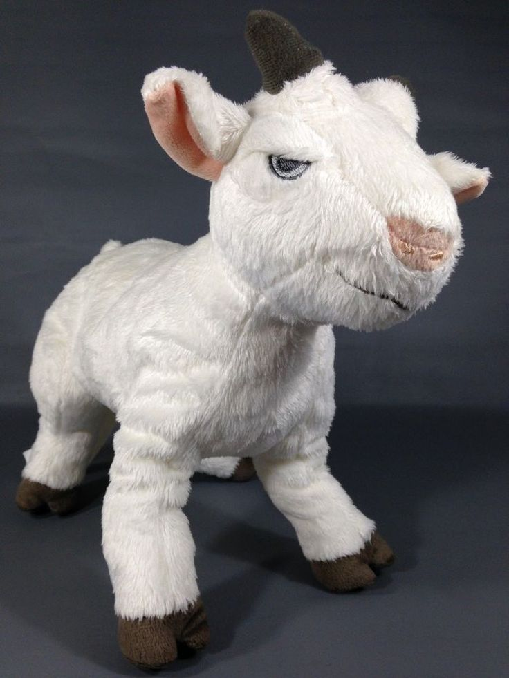"""Ikea Of Sweden White Brown Gray Lappget Billy Goat Plush Stuffed Animal 13"""" Toy #IkeaofSweden"""