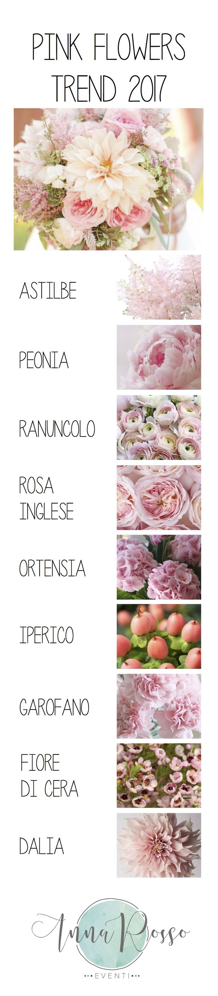 Flower trend 2017 – Pink– Anna Rosso Eventi