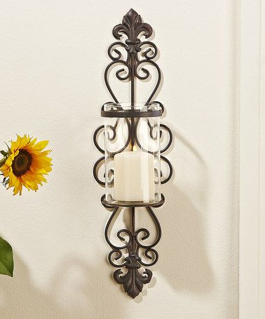Loving this Filigree Metal Candle Wall Sconce on #zulily! #zulilyfinds