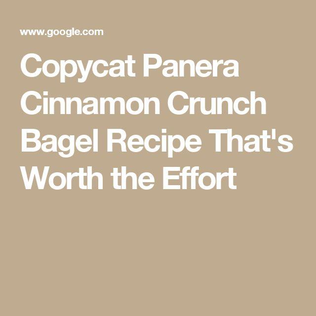 Copycat Panera Cinnamon Crunch Bagel Recipe That's Worth the Effort