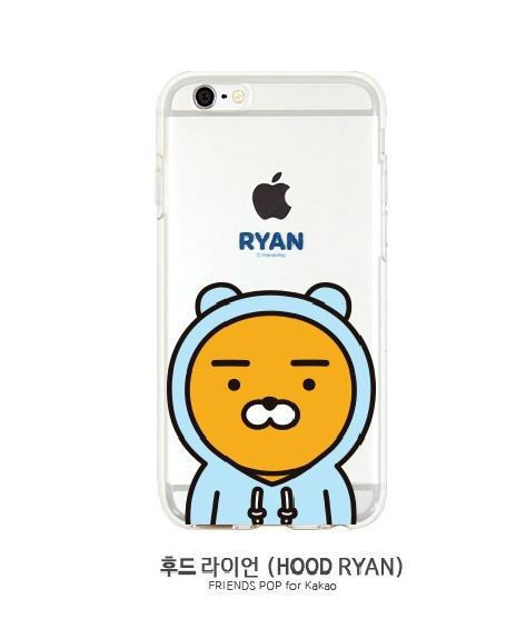 Cutie HoodRyan KAKAOFRIENDSPOP iPhone 6/6S Cell Phone Jelly Case Cover Protector #KAKAOFRIENDS