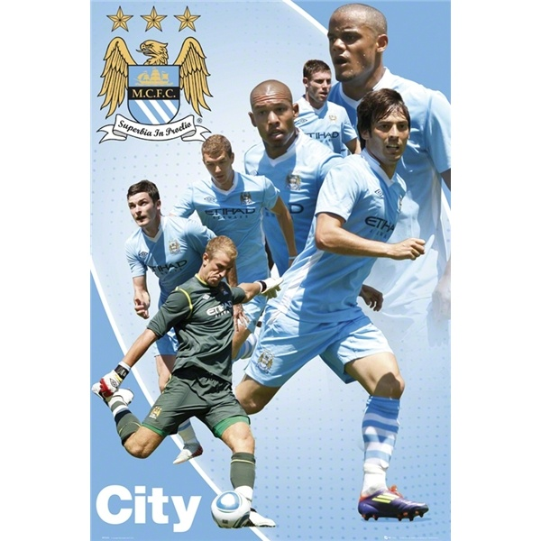 Manchester City 11/12 Players Poster