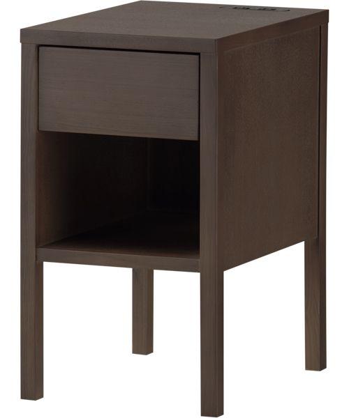 コンセント付き天然木サイドテーブル(アッシュ)   ニトリ公式通販 家具 ...