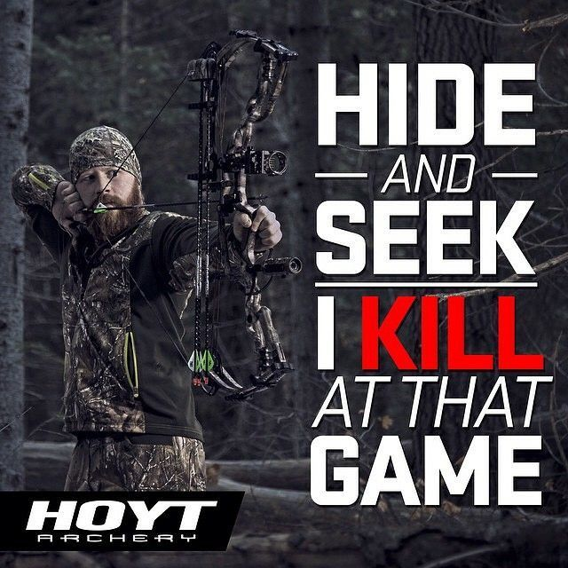 Ready or not, here I come! #TeamHoyt #GetSeriousGetHoyt #TheBoneShed #Archery…