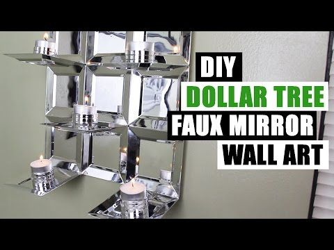 Diy Dollar Tree Faux Mirror Wall Art Candle Holder Easy Z