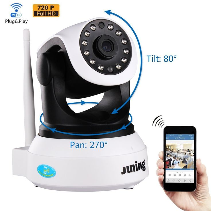 Amazon.com : Security Camera - JUNING 720P HD Wifi Wireless IP Security Surveillance Camera System with Day/Night Vision, Remote Pan Tilt Control and 2 Way Audio : Camera & Photo | @giftryapp