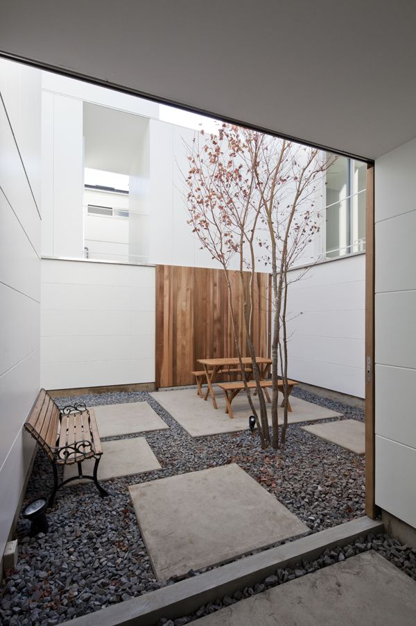 Soshigaya house be fun design pinterest house for Minimalist house with courtyard